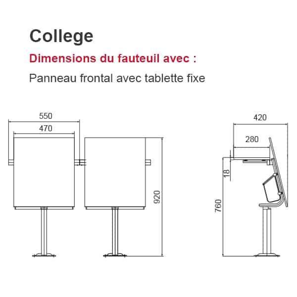 Fauteuil Amphithéâtre College