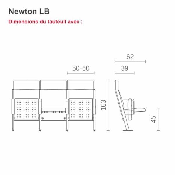 Fauteuil auditorium Newton